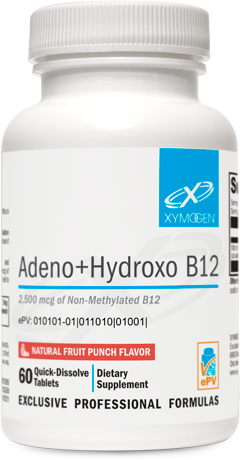 Adeno+Hydroxo B12 Natural Fruit Punch Flavor 60 Tablets